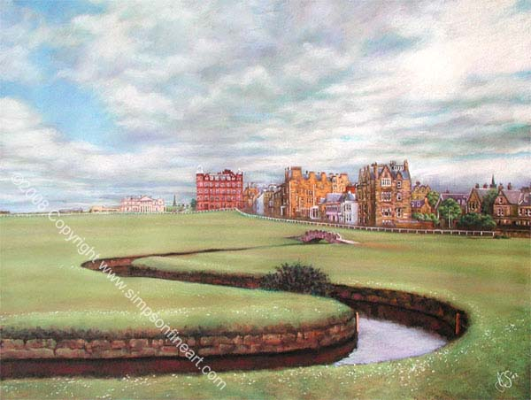 Across The Swilcan, St Andrews Old Course