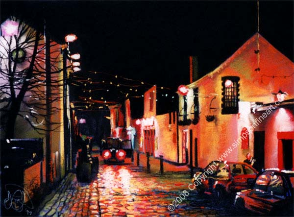 Ashton Lane, Glasgow By Night