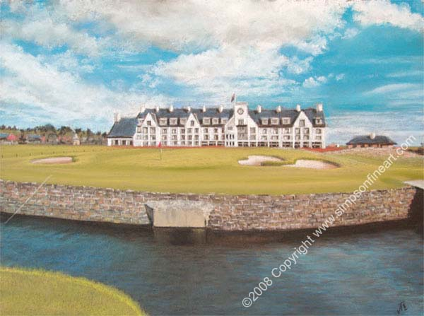 The Barry Burn, 18th Hole Carnoustie Golf Course
