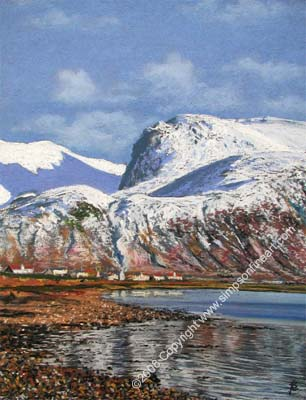 Ben Nevis and Loch Eil From Corpach