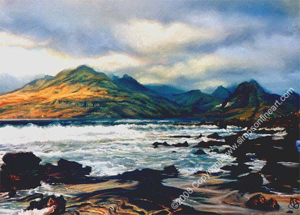 A Blowy Day, The Isle Of Skye