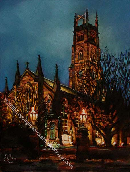 Bothwell Parish Church By Night