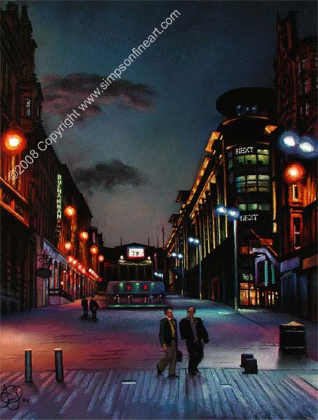 Buchanan Street, Glasgow By Night