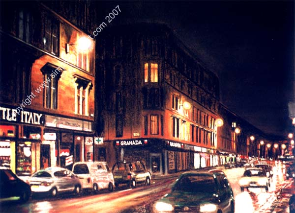 Byres Road, Glasgow By Night