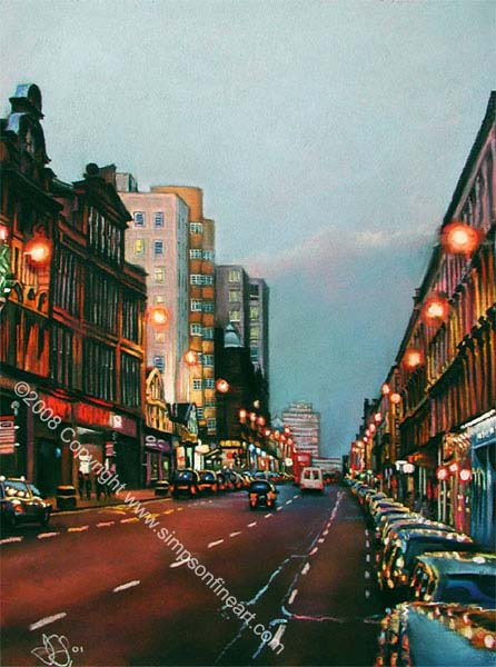 Early Evening, Sauchiehall Street, Glasgow
