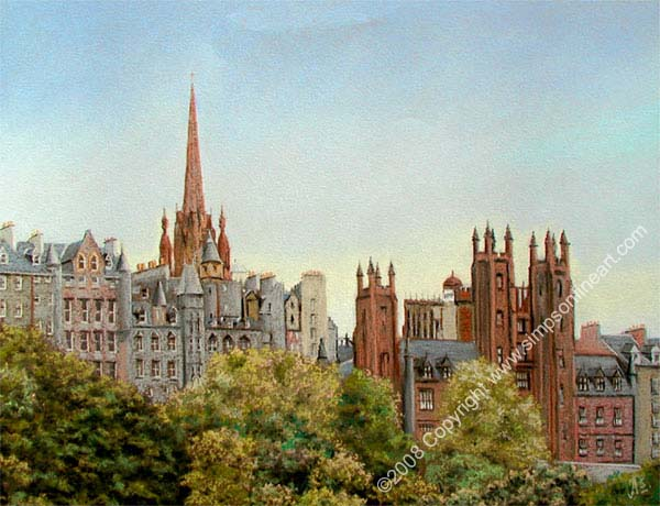 Edinburgh University Skyline
