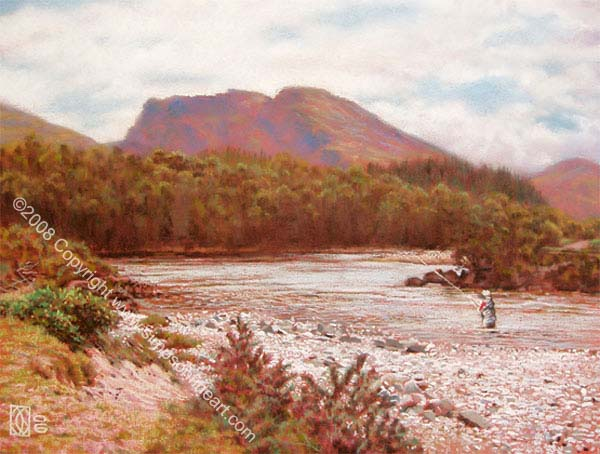 Fishing The River Lochy Near Ben Nevis