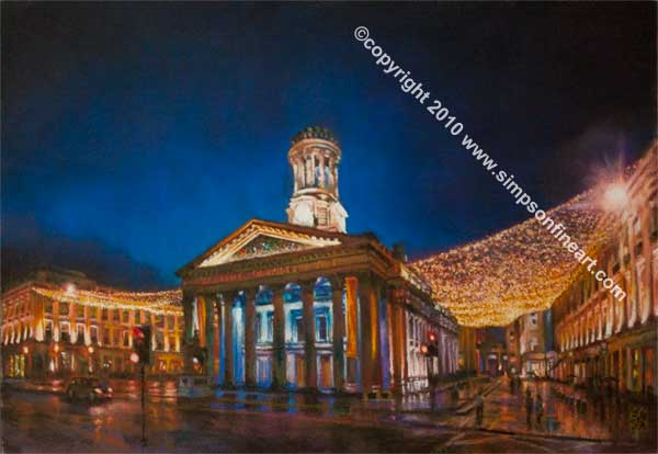 Gallery Of Modern Art, Royal Exchange Square, Glasgow By Night