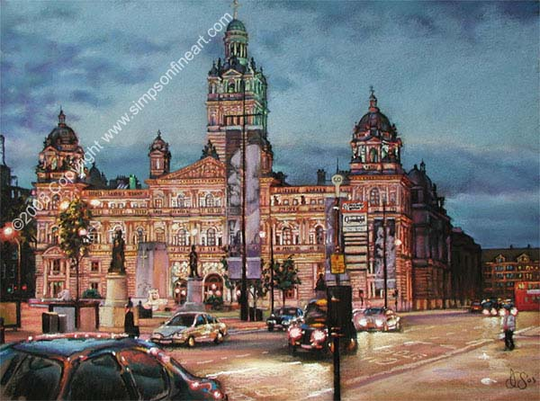 George Square & The City Chambers, Glasgow By Night