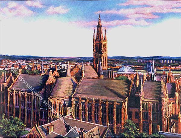 Glasgow University From The Library