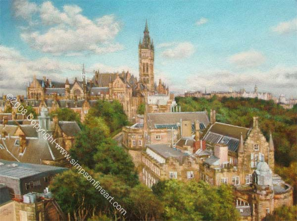 Glasgow University From The Western Infirmary
