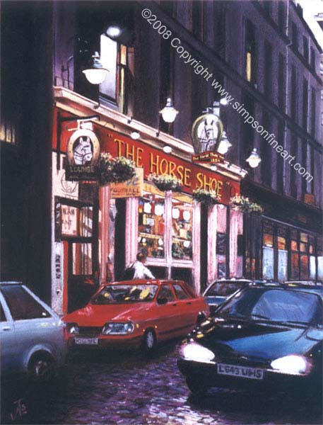 Horseshoe Bar, Glasgow By Night