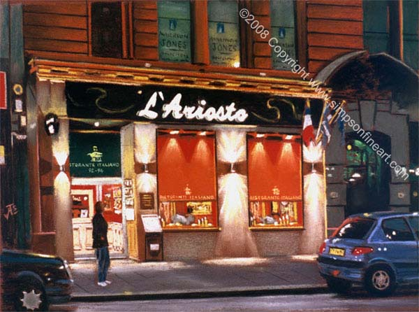 L'Ariosto, Mitchell Street, Glasgow By Night