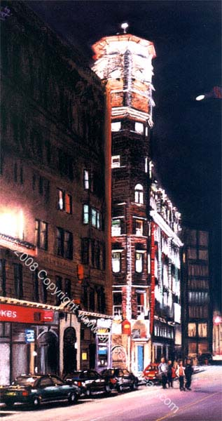 The Lighthouse, Mitchell Lane, Glasgow By Night