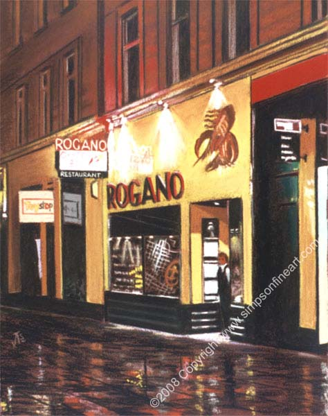 Rogano Royal Exchange Square, Glasgow By Night
