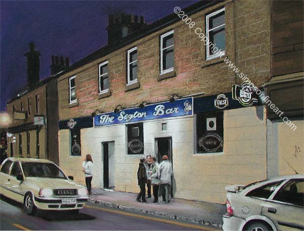 The Segton Bar, Coatbridge By Night