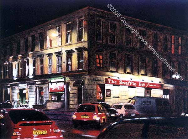 Snaffle Bit, Sauchiehall Street, Glasgow By Night