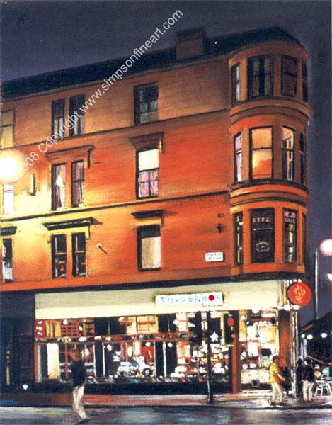 Tinderbox, Byres Road, Glasgow By Night