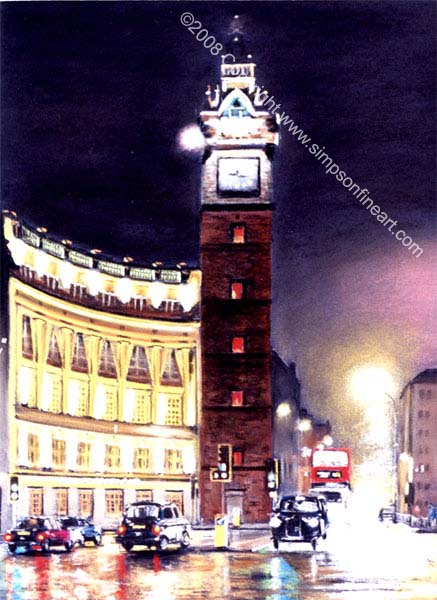 The Tolbooth, Glasgow By Night