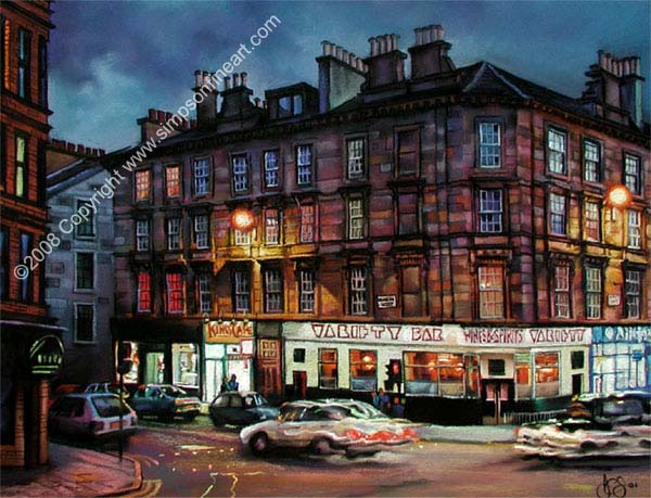 Variety Bar, Sauchiehall St, Glasgow By Night