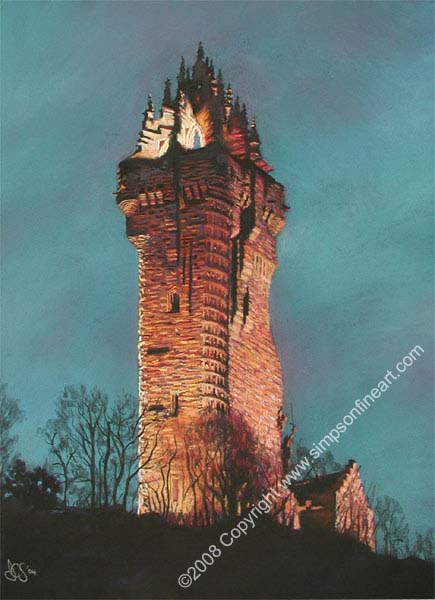 The Wallace Monument, Stirling By Night