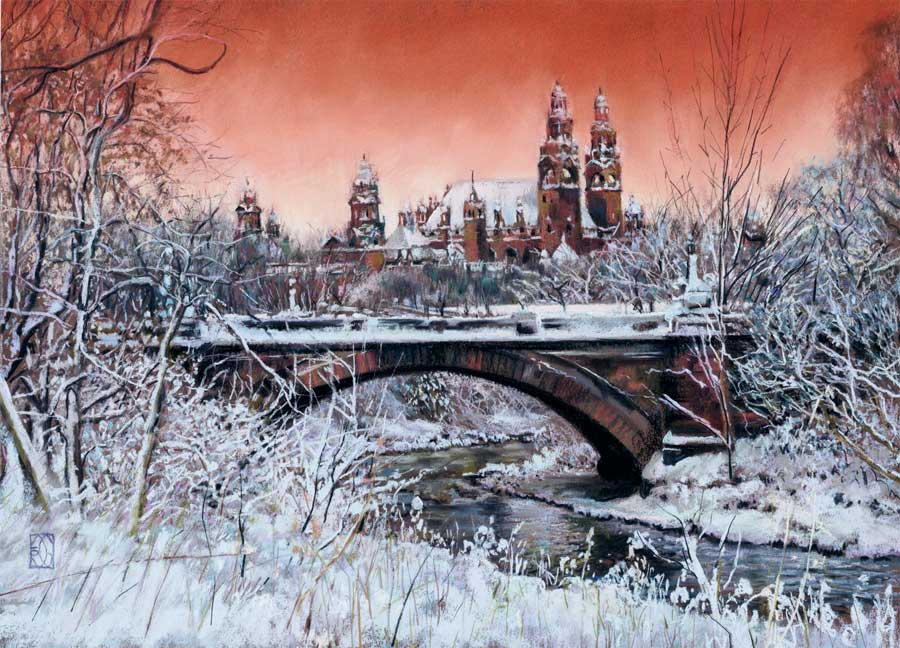 A Winter Sunset Over Kelvingrove Art Gallery, Glasgow