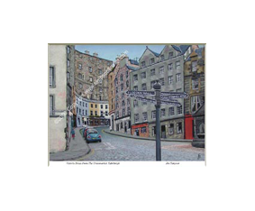 Victoria Street From The Grassmarket, Edinburgh