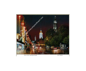 Princes Street, Edinburgh By Night