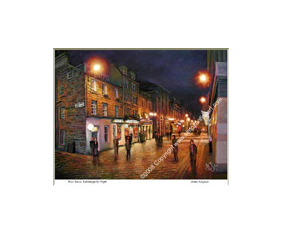 Rose Street, Edinburgh By Night