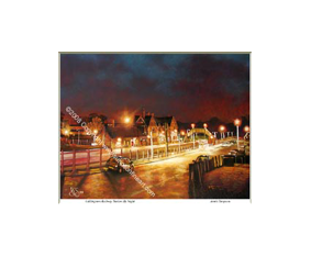Uddingston Railway Station By Night