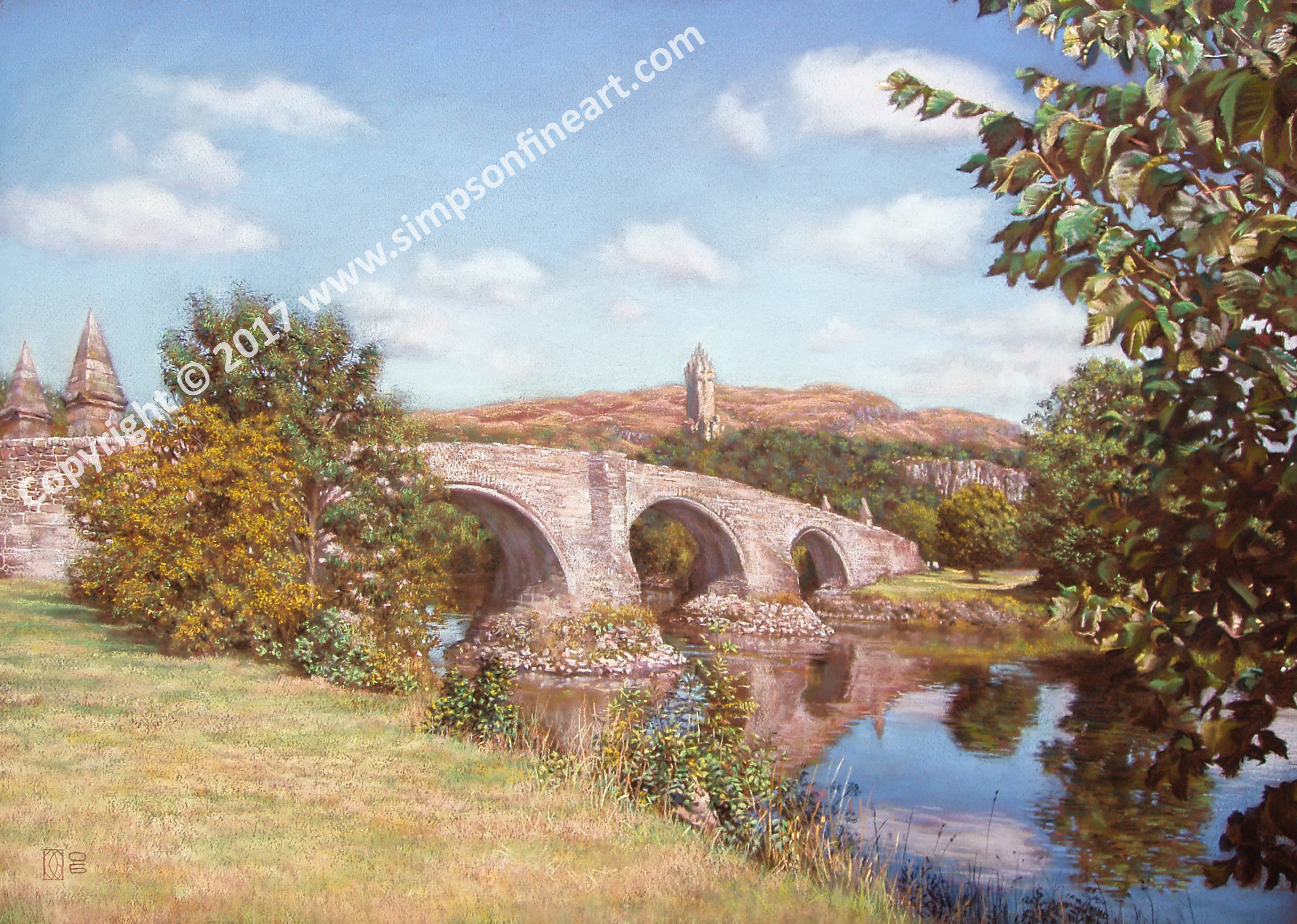 Stirling Bridge and The Wallace Monument
